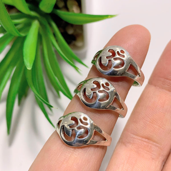 OM Ring In Sterling Silver (Size 7)
