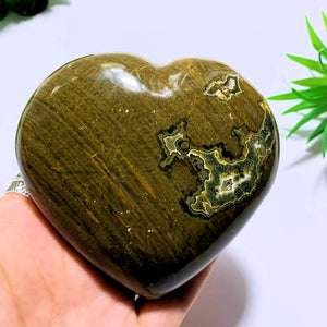 Ocean Jasper Large Love Heart Carving~Locality Madagascar
