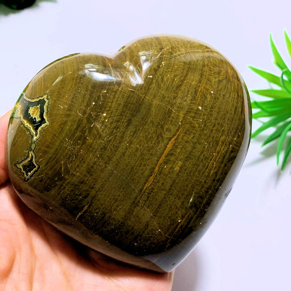 Ocean Jasper Large Love Heart Carving~Locality Madagascar - Earth Family Crystals