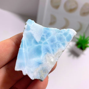 Unpolished Natural Larimar Specimen From The Dominican Republic #2