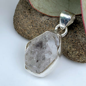 RESERVED For KIM.M~High Vibration Natural NY Herkimer Diamond Sterling Silver Pendant (Includes Silver Chain) #2