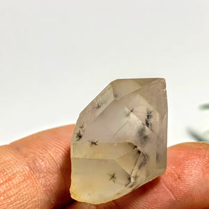 Very Rare~Bursting Star Hollandite Quartz Double Points Dainty Collectors Specimen From Madagascar
