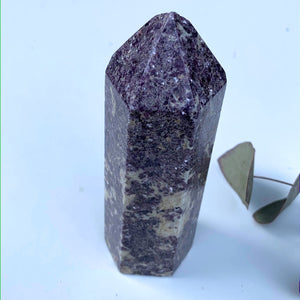 Stunning Shimmering Lilac Lepidolite Chunky Large Display Tower From Brazil #1