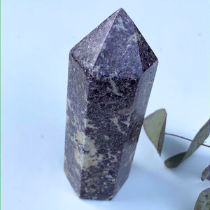 Stunning Shimmering Lilac Lepidolite Chunky Large Display Tower From Brazil #1 - Earth Family Crystals