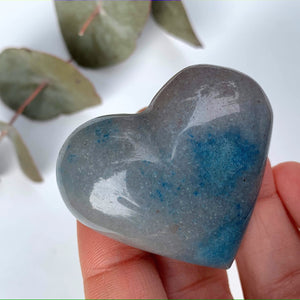 Cute  Splashes of Blue Small Trolleite  Love Heart Carving From Brazil #4