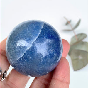 Pretty Blue Trolleite Sphere Carving From Brazil