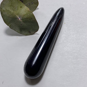 Protective Polished Black Tourmaline Wand #2