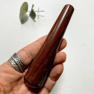 Red Stripped Zebra Jasper Wand From India #1