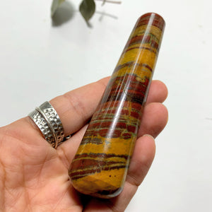 Red Stripped Zebra Jasper Wand From India #3