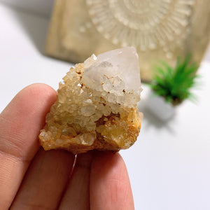 White Spirit Quartz With Citrine Inclusions From S.Africa