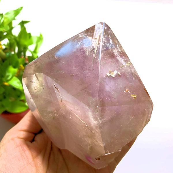 Lavender Amethyst Partially Polished Large Free Form Standing Display Specimen~Locality Brazil