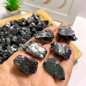 Set of 6 ~ Emf Protective Noble (Elite) Shungite Natural Crystals From Russia