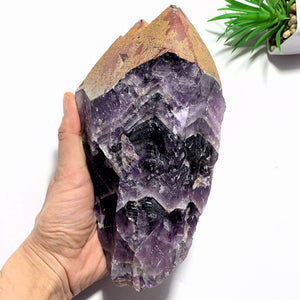 1.4kg~Incredible XL Red Hematite Capped Tip & Deep Purple Genuine Auralite-23 From Canada