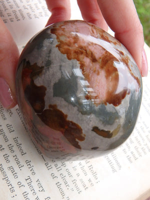 Gorgeous Shine & Splashes of Color Polychrome Jasper Specimen - Earth Family Crystals