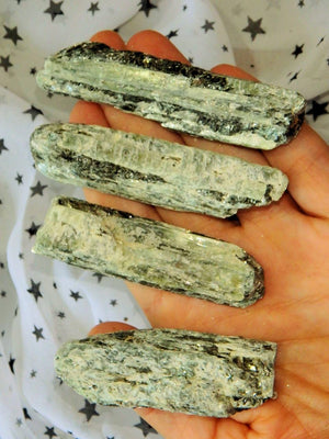 Lovely Green Kyanite Raw Point Specimen (1) - Earth Family Crystals