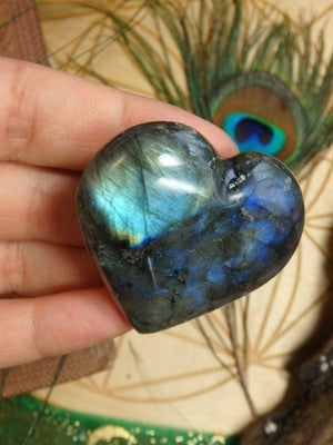 Adorable Mini  Labradorite Heart Carving 2 - Earth Family Crystals