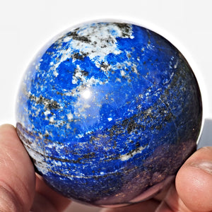 Incredible High Quality Large Cobalt Blue Lapis Lazuli Sphere
