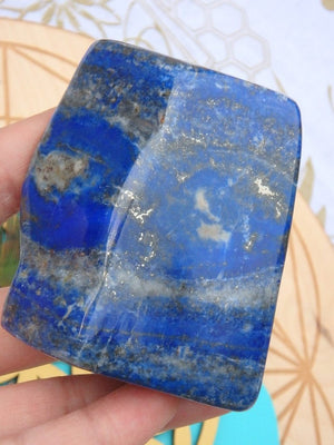 AA Grade Celestial Blue Lapis Lazuli With Mega Golden Glimmer Pyrite Inclusions - Earth Family Crystals