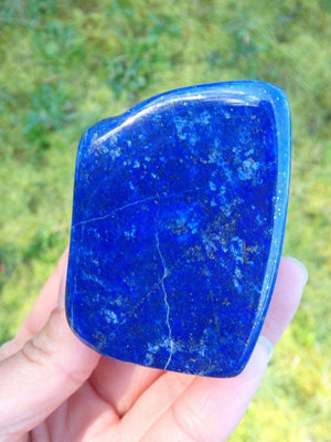 AA Grade Dark Celestial Blue Lapis Lazuli Carving With Mega Pyrite Glitter - Earth Family Crystals