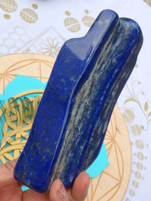 AA Grade Tall Deep Blue Lapis Lazuli Display Specimen - Earth Family Crystals