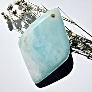 Beautiful Blue Larimar Drilled Cabochon Ideal for Crafting #3