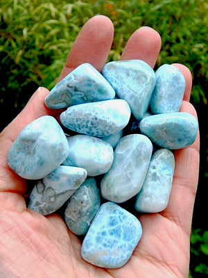 Larimar Blue Serenity Tumbled Stone (1) - Earth Family Crystals