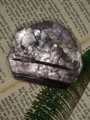 Shimmery Violet Purple Lepidolite Specimen (Perfect for Body Layouts) - Earth Family Crystals