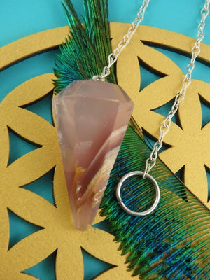 Super Healing Lithium Quartz Pendulum - Earth Family Crystals