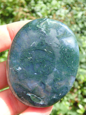 Moss Agate Worry Stone Perfect for Your Pocket 1