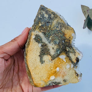 Large Chunky Golden Pyrite  & Quartz Points on Rock Matrix