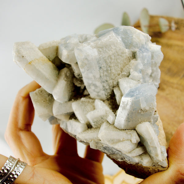 Large 1.5 Lb Chunky Sky Blue Ohio Celestite Cluster (Old Collection)