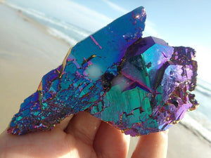 Absolutely Gorgeous! Self Healed RAINBOW TITANIUM QUARTZ SPECIMEN - Earth Family Crystals