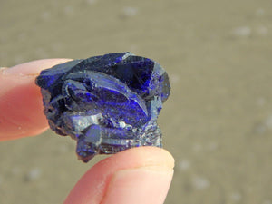 Deep Dark Blue AZURITE CRYSTAL CLUSTER SPECIMEN - Earth Family Crystals