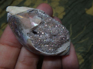 RARE! ANGEL AURA DRUZY SPIRALITE GEMSHELL**** - Earth Family Crystals