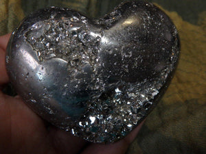Amazing Golden PYRITE GEMSTONE HEART - Earth Family Crystals