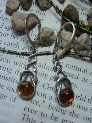 BALTIC AMBER EARRINGS In Sterling Silver - Earth Family Crystals