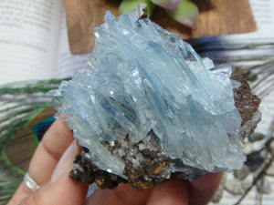 Reserved for danielle Soft Sky BLUE BARITE On Matrix SPECIMEN - Earth Family Crystals