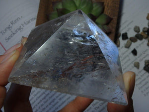 CLEAR QUARTZ PYRAMID From Brazil - Earth Family Crystals