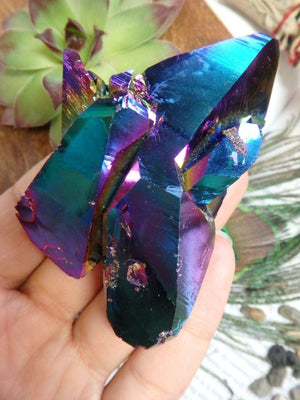 Amazing Rainbow Stunner! Double Terminated TITANIUM QUARTZ SPECIMEN From Arkansas - Earth Family Crystals