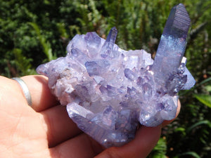 Spectacular & Large Blue Ray TANZAN AURA QUARTZ Cluster - Earth Family Crystals