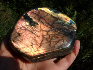 Rare Spectacular Pink Flash Show~ Blue & Pink LABRADORITE SELF STANDING DISPLAY  SPECIMEN - Earth Family Crystals