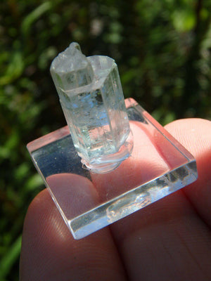 Natural Gemmy Blue Multi Terminated Mounted AQUAMARINE SPECIMEN - Earth Family Crystals