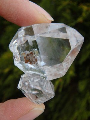 Amazing Clarity Large NY Herkimer Diamond Mother & Baby Specimen - Earth Family Crystals