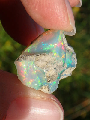 Full Color Spectrum~Natural Ethiopian Opal Specimen - Earth Family Crystals