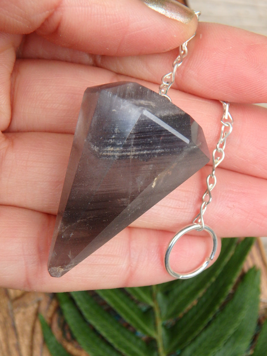 Smoky Angel Phantom Quartz Pendulum