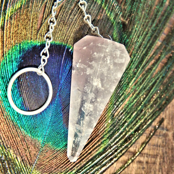 Cloud of Lithium Included Quartz Pendulum Perfect for Dowsing
