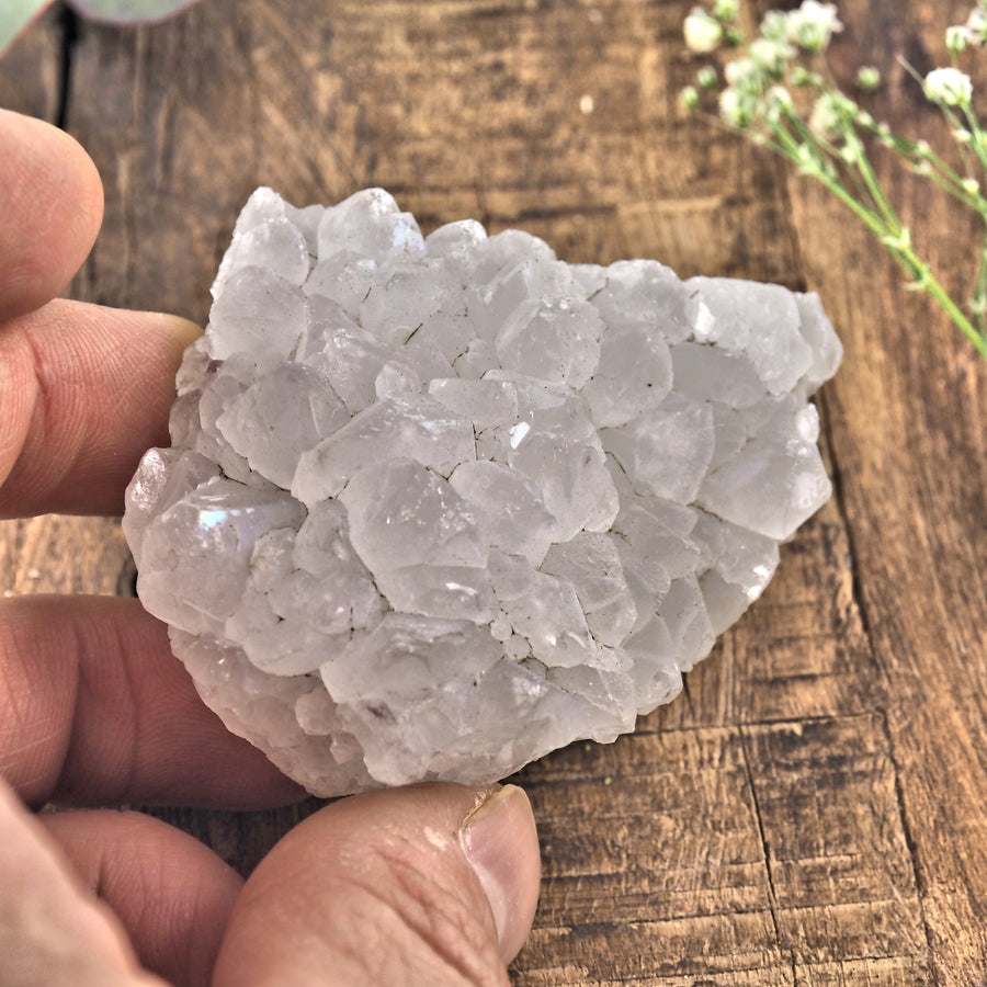 Milky Quartz Cluster From India8 - Earth Family Crystals