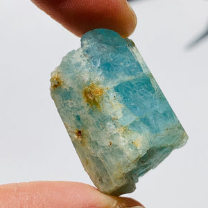 Gemmy Blue Aquamarine Point from India