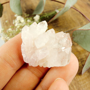 Rare Pale Pink Crystalline Rose Quartz Collectors Specimen From Minas Gerais, Brazil #5