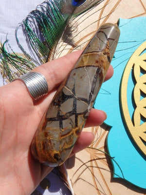 Ancient Vibes! Septarian Dragon Wand - Earth Family Crystals